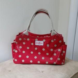 Cath Kidston red & tan polka dot Day Bag
